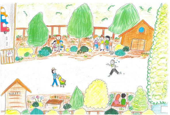 市民が提案した弥富相生山線の公園・遊歩道構想のイメージ