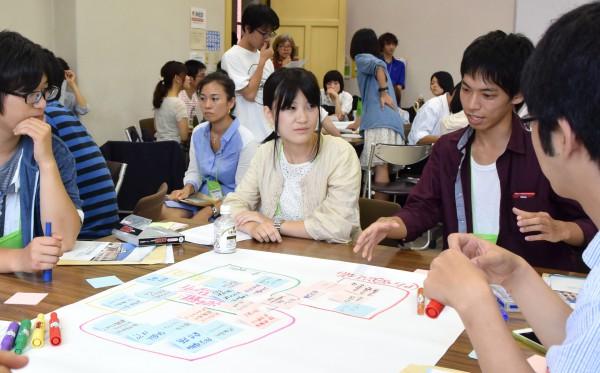 「防災」を通して地域の将来像を話し合う学生たち