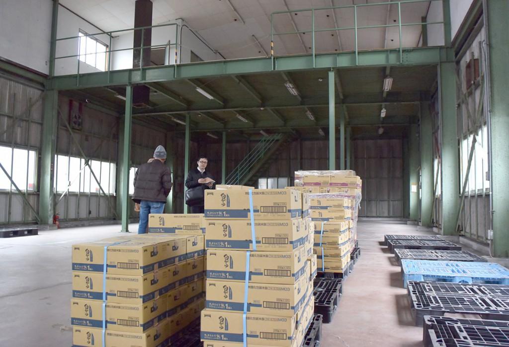 NPO間の連携のため愛知県大口町に整備されている倉庫