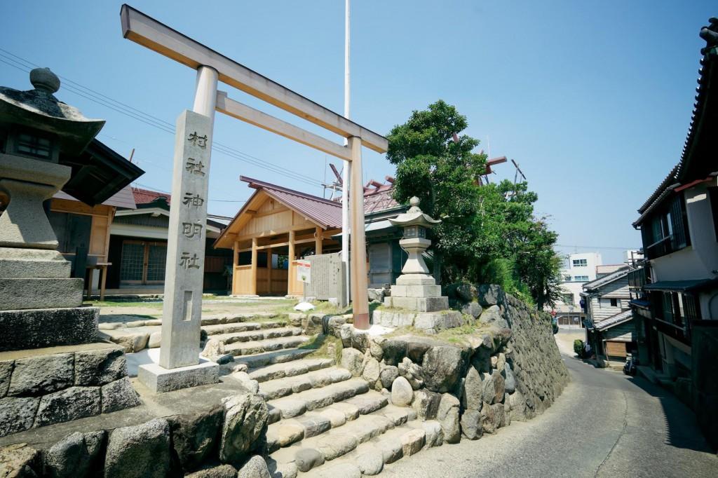 伊勢神宮の御用材で社殿が建て替えられる篠島の神明神社