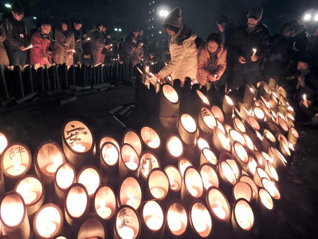 今年の神戸市での阪神・淡路大震災追悼セレモニー